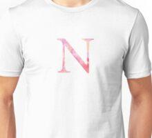 Pink Nu Watercolor Letter Unisex T-Shirt