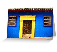 Colorful Vintage Facade Greeting Card