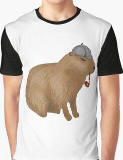 Sherlock capybara Graphic T-Shirt