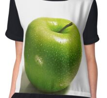 ripe green apple isolated on white background Chiffon Top