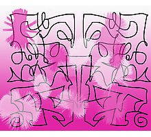 """Pink & Black Graffiti""  Photographic Print"