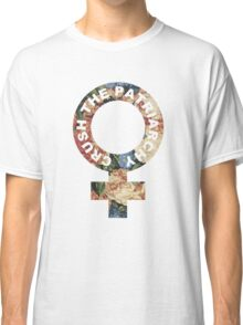 Crush the patriarchy - floral Classic T-Shirt