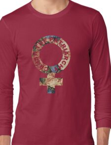 Crush the patriarchy - floral Long Sleeve T-Shirt