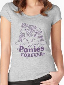 ponies forever! Women's Fitted Scoop T-Shirt
