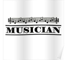 Musician (Black) Poster