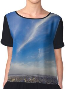 sky above the town Chiffon Top