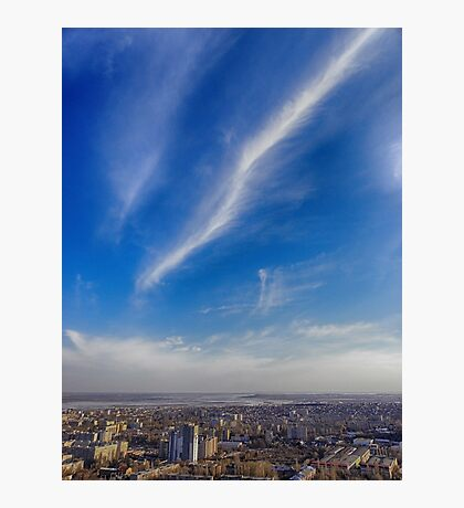 sky above the town Photographic Print