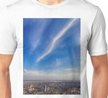 sky above the town Unisex T-Shirt