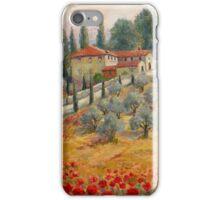 Red Poppy Road Villas iPhone Case/Skin