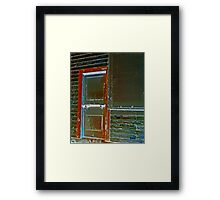Doorway to Abandoned Building Framed Print