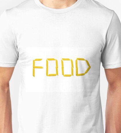 word: FOOD Unisex T-Shirt