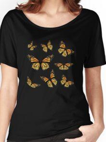 Orange Monarch Butterfly Women's Relaxed Fit T-Shirt