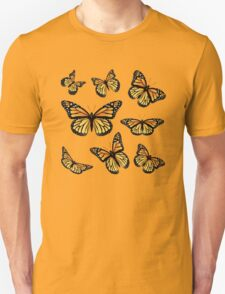 Orange Monarch Butterfly Unisex T-Shirt