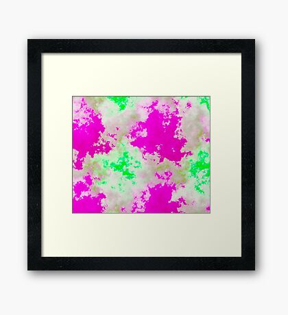 pink and green abstract Framed Print