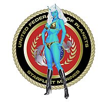 Andorian Girl - United Federation of Planets Photographic Print