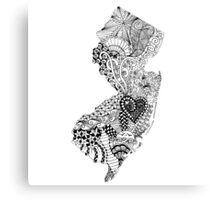 New Jersey Doodle  Canvas Print