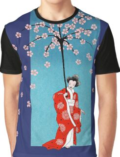 Spring Snow Parasol Graphic T-Shirt