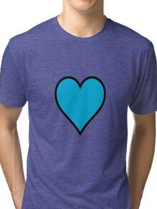 Blue heart Tri-blend T-Shirt