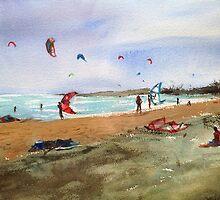 Altona Beach kites by Karin Zeller