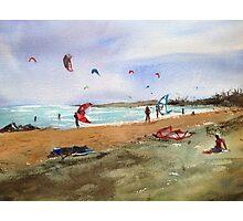 Altona Beach kites Photographic Print