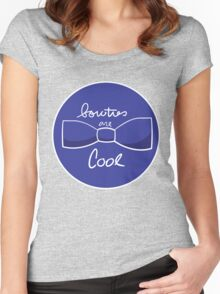 Bow ties are AWESOME (Blue) Women's Fitted Scoop T-Shirt