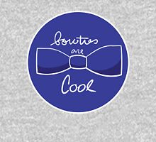 Bow ties are AWESOME (Blue) Womens Fitted T-Shirt