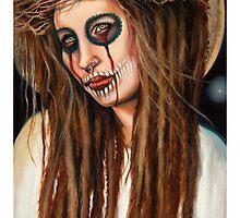 Girl Jesus by Sylvia Lizarraga by OutsiderArtist