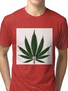 Cannabis leaf Tri-blend T-Shirt