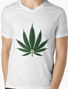 Cannabis leaf Mens V-Neck T-Shirt