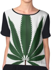 Cannabis leaf Chiffon Top