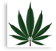 Cannabis leaf Canvas Print