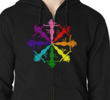 Jean Grey (Phoenix) LGBT Emblem Zipped Hoodie