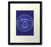 Bow ties are AWESOME (Blue) Framed Print