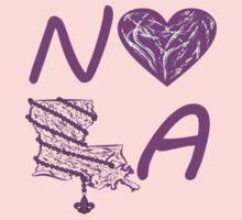 I heart NOLA (Purple) One Piece - Long Sleeve