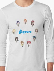 Love Live! Sunshine Aqours Chibi Logo Long Sleeve T-Shirt