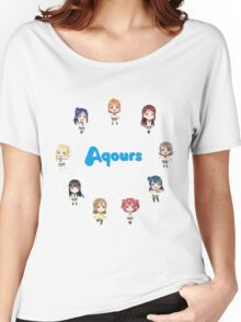 Love Live! Sunshine Aqours Chibi Logo Women's Relaxed Fit T-Shirt
