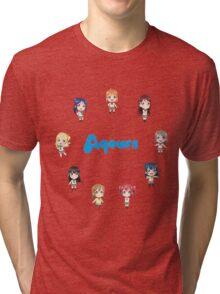 Love Live! Sunshine Aqours Chibi Logo Tri-blend T-Shirt