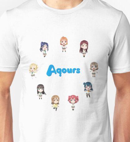 Love Live! Sunshine Aqours Chibi Logo Unisex T-Shirt