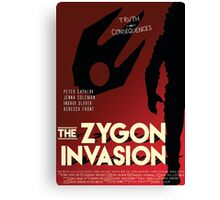 The Zygon Invasion Poster Canvas Print
