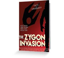 The Zygon Invasion Poster Greeting Card