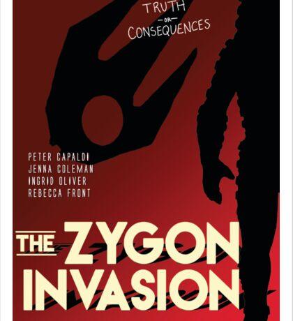 The Zygon Invasion Poster Sticker