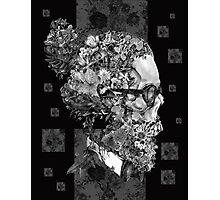 hipster skull Photographic Print