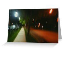 9:06, Walking at night Greeting Card
