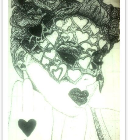 Pinned Queen of Hearts Sticker