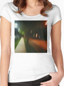 9:06, Walking at night Women's Fitted Scoop T-Shirt