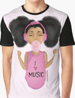 I Love Music Graphic T-Shirt