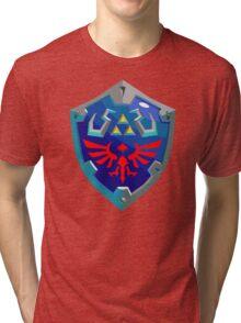 Hylian Shield w/o Cartridge Tri-blend T-Shirt