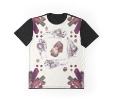 bird skull crystal square Graphic T-Shirt