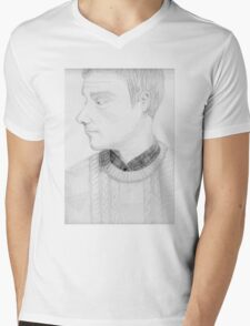 The One Fixed Point Mens V-Neck T-Shirt