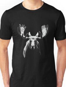 Bull moose white  Unisex T-Shirt